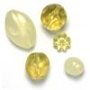 Lucite Assorted Medium Beads Pineapple Quartz - 42 Grams